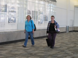 Power walking the MSP airport